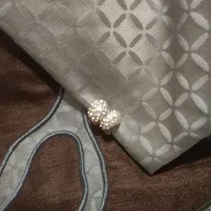 Silver Crystal Water Drop Earrings